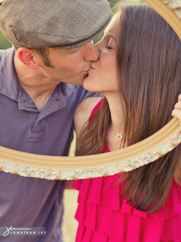 Engagement Photo with frame