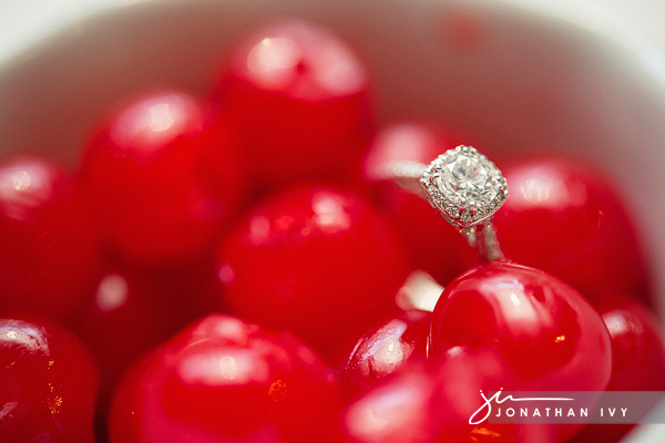 wedding ring with cherries