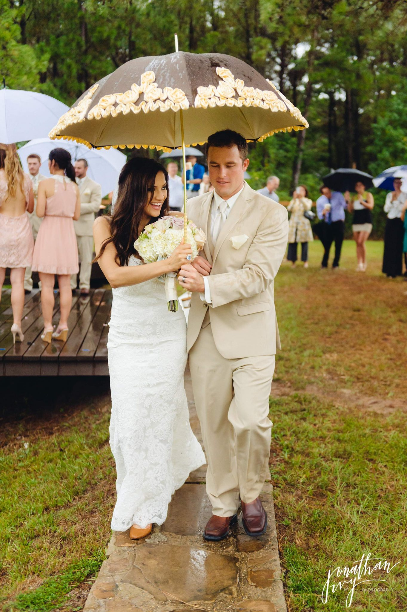 Tented Outdoor Rainy Day wedding