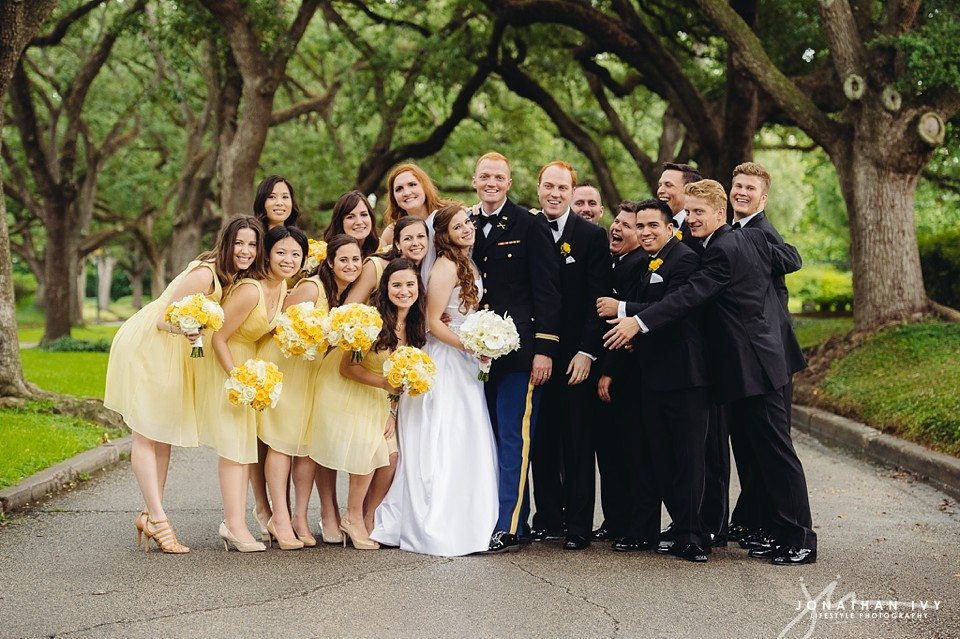 yellow bridesmaids dresses wedding party