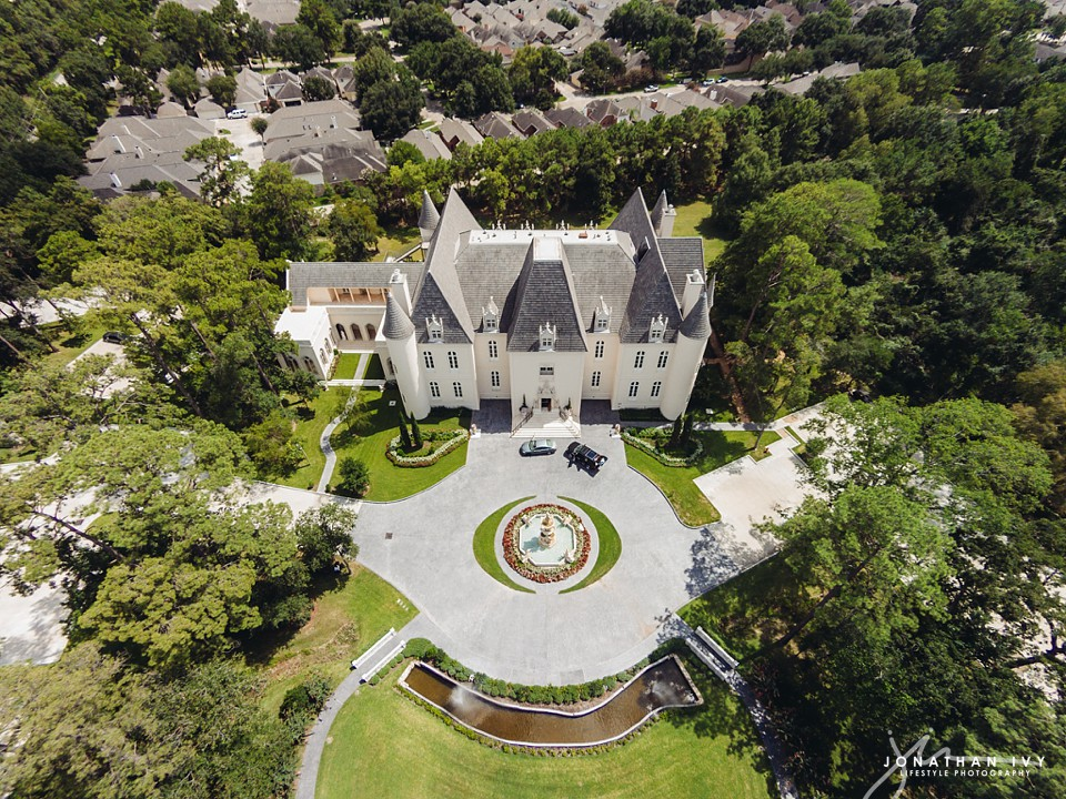 Chateau Cocomar Wedding Aerial