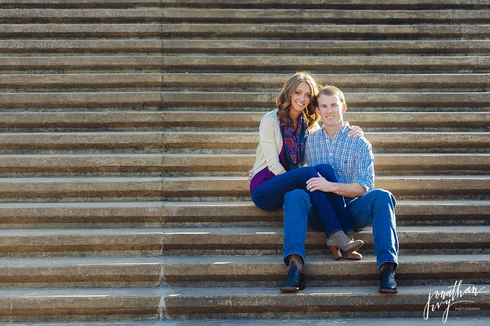 Romantic Buffalo Bayou Engagement in Houston