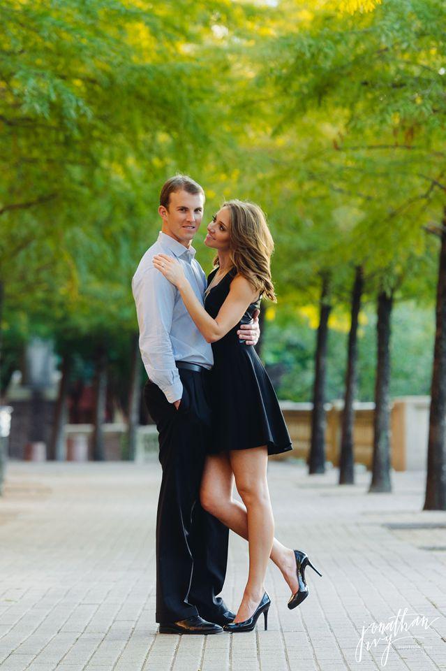 Romantic Buffalo Bayou Engagement in Houston