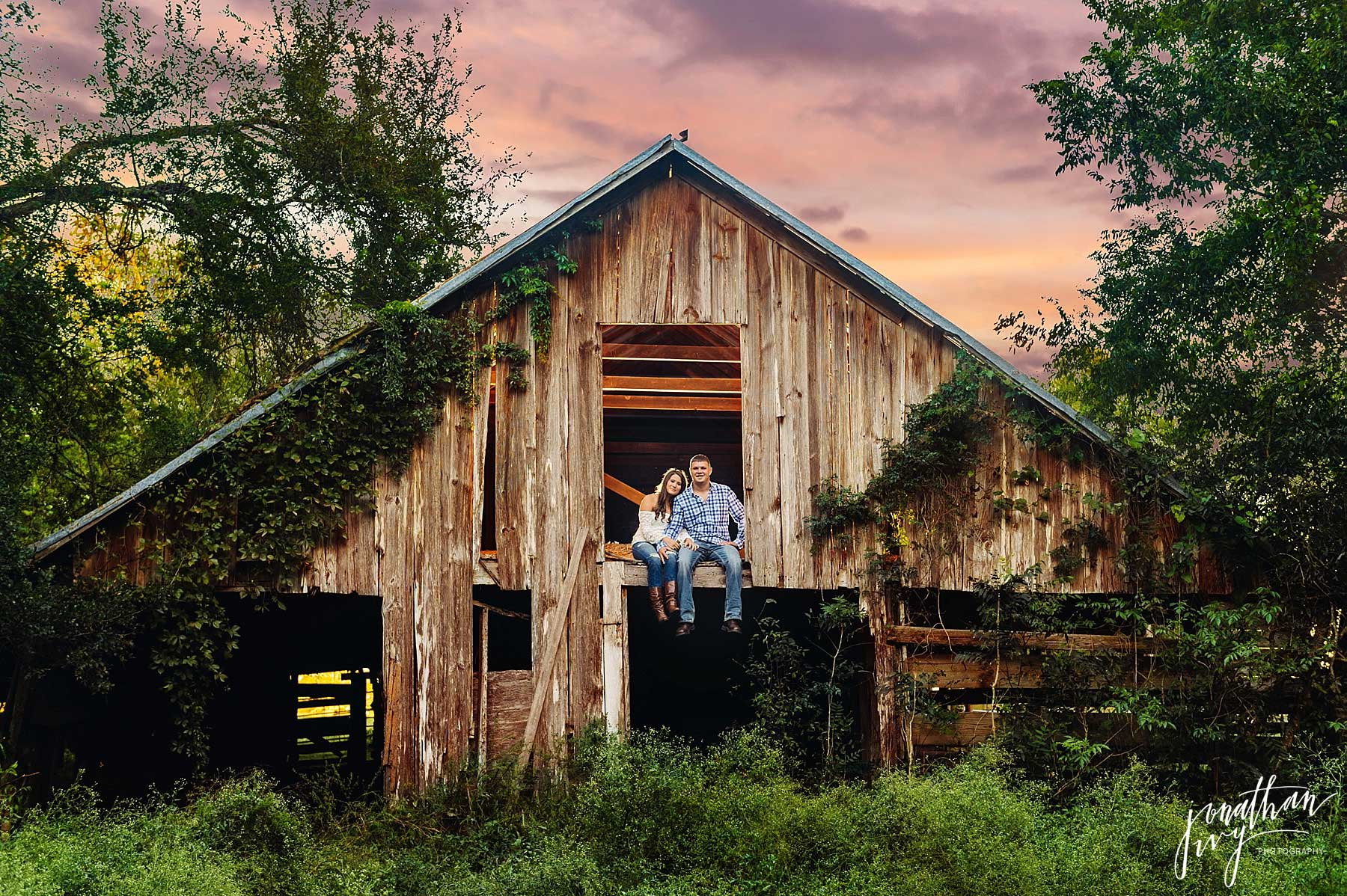 Rustic Barn Engagement In Houston Haley Andrew