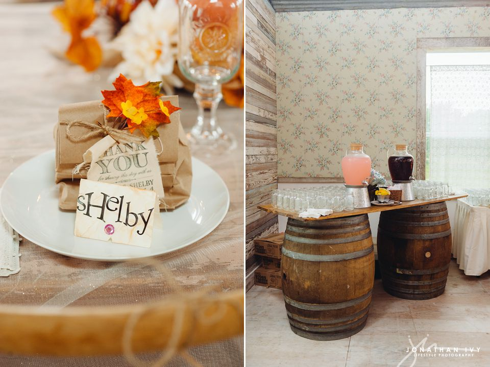 Rustic Fall Themed Wedding Decor