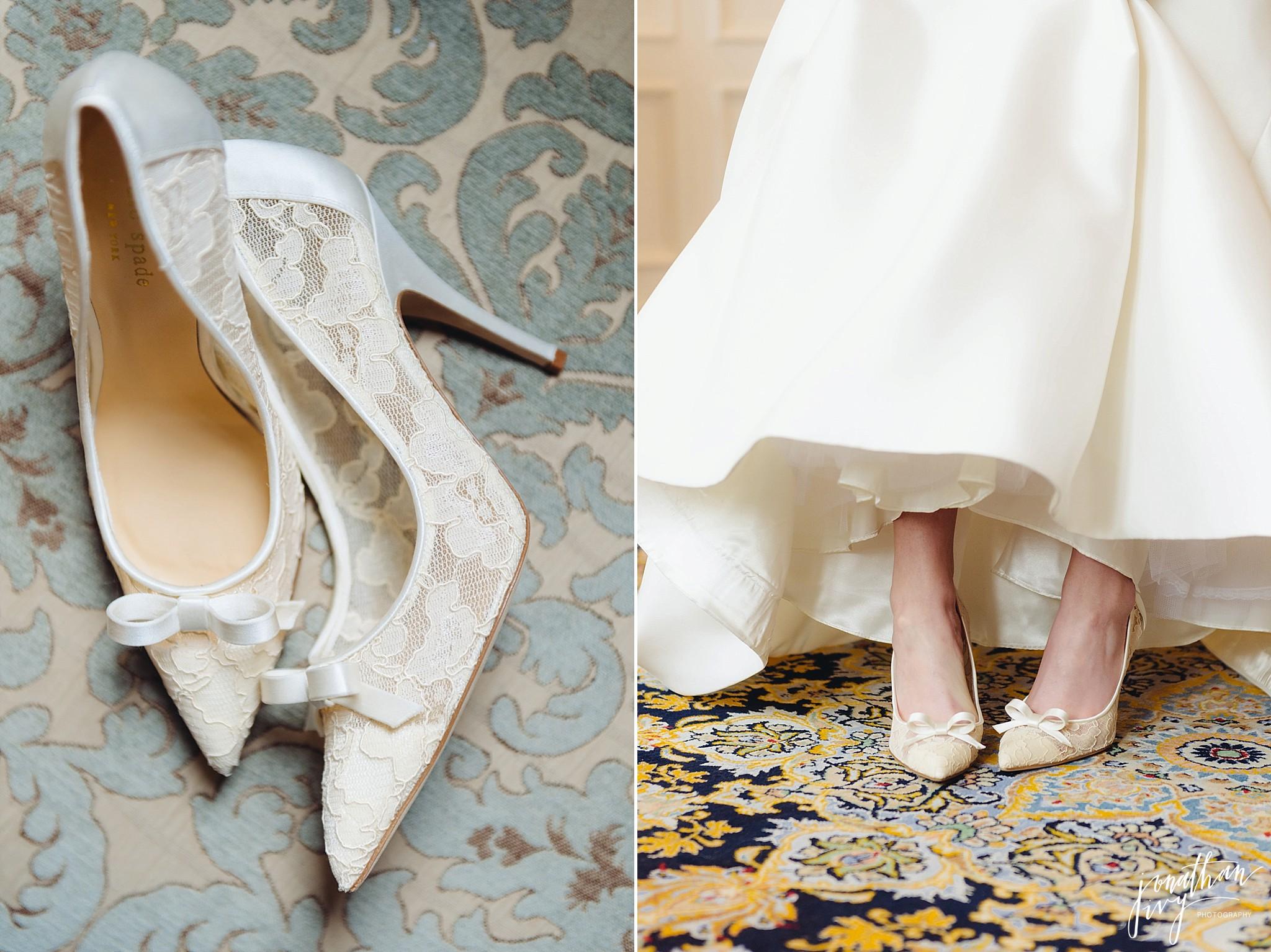 White lace Kate Spade