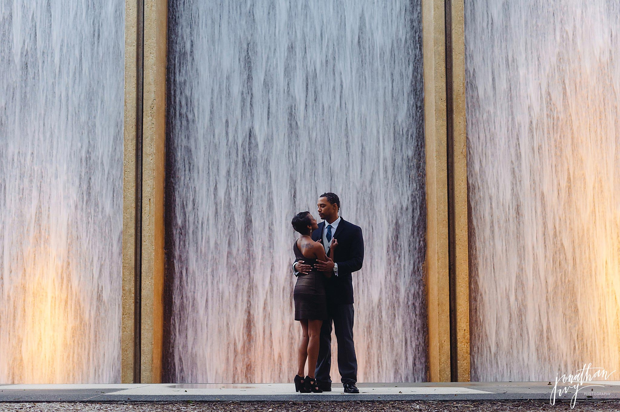 Williams Waterwall Houston Engagement Photos