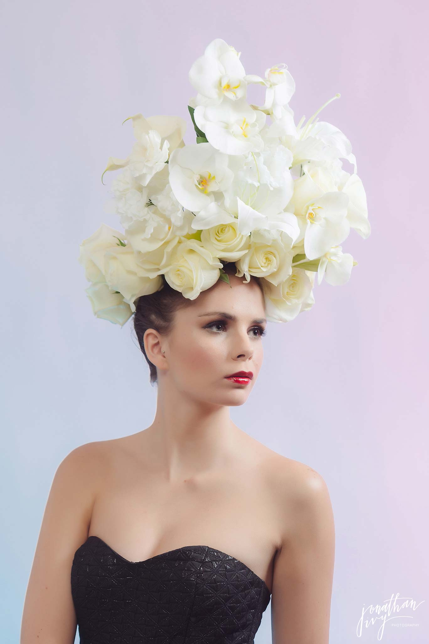 White Floral Headpiece
