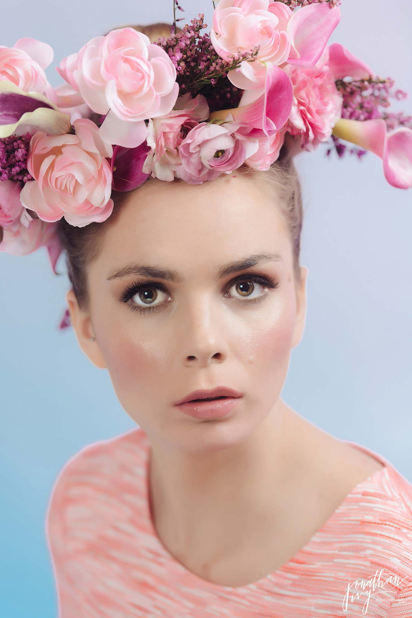 Blush Pink Floral Headpiece floral crown