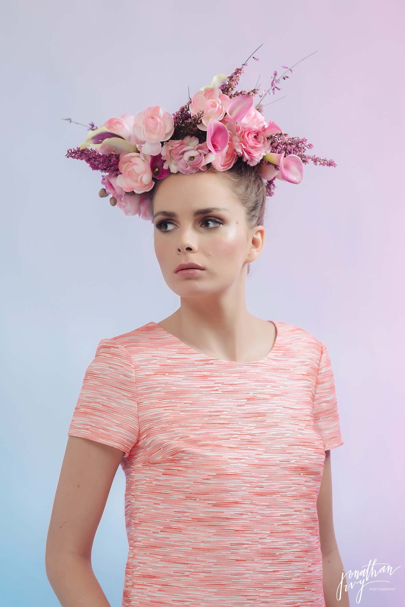 Blush Pink Floral Headpiece floral crown
