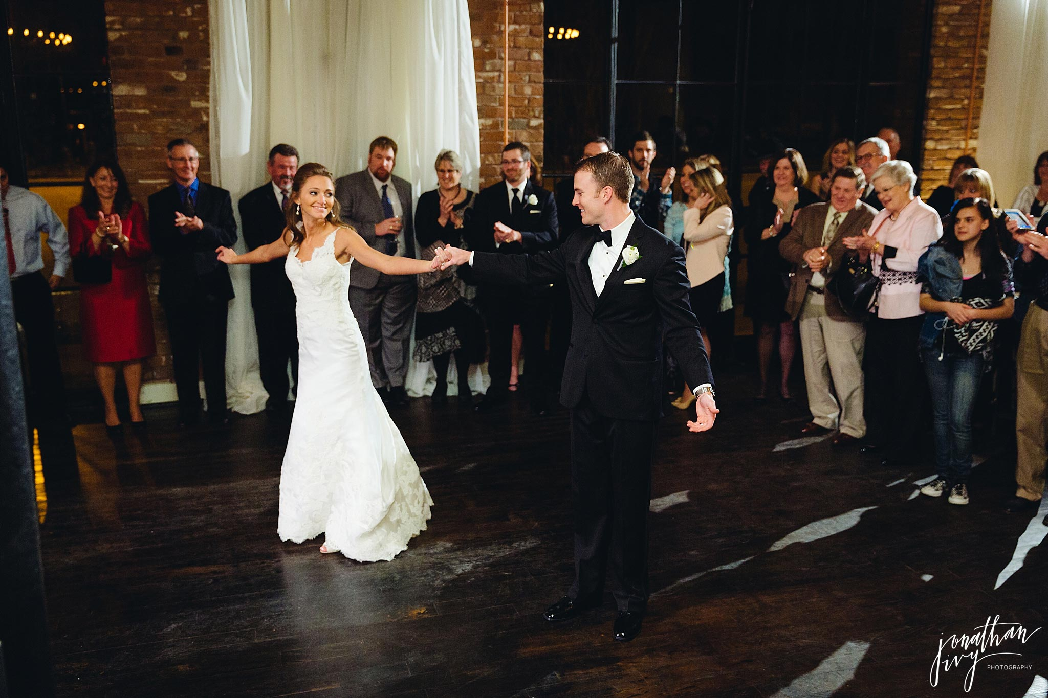 Bride and Groom first dance at station 3 in Houston