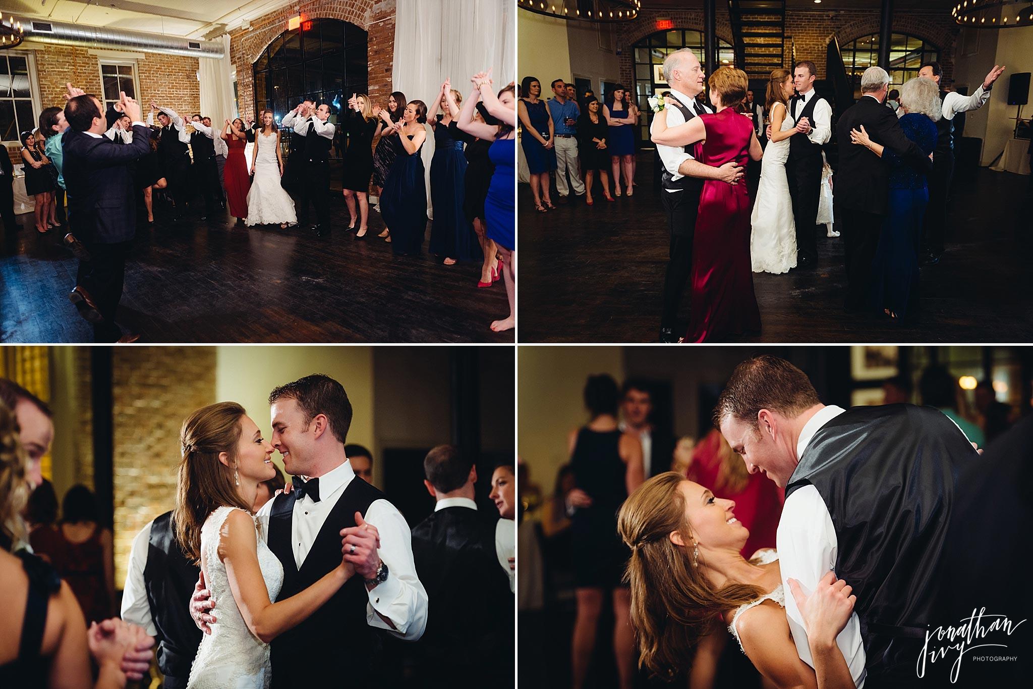 Dancing at station 3 wedding