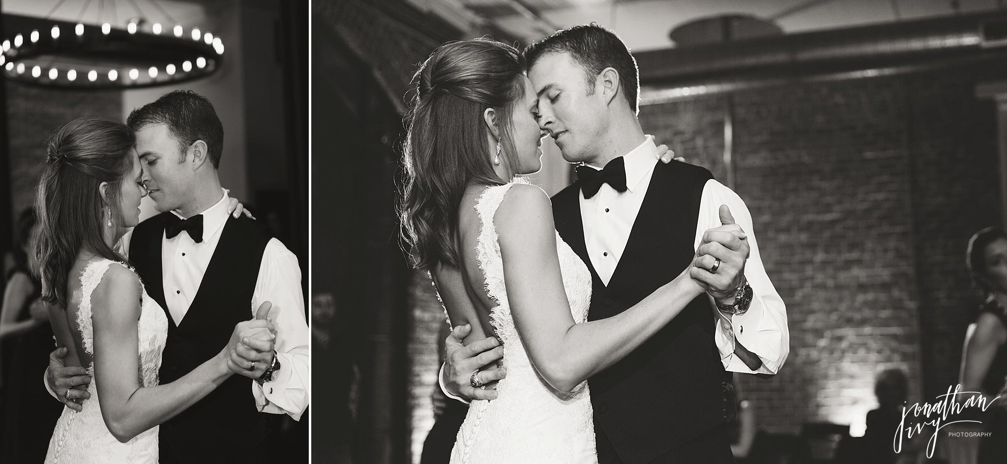 Romantic first dance bride groom