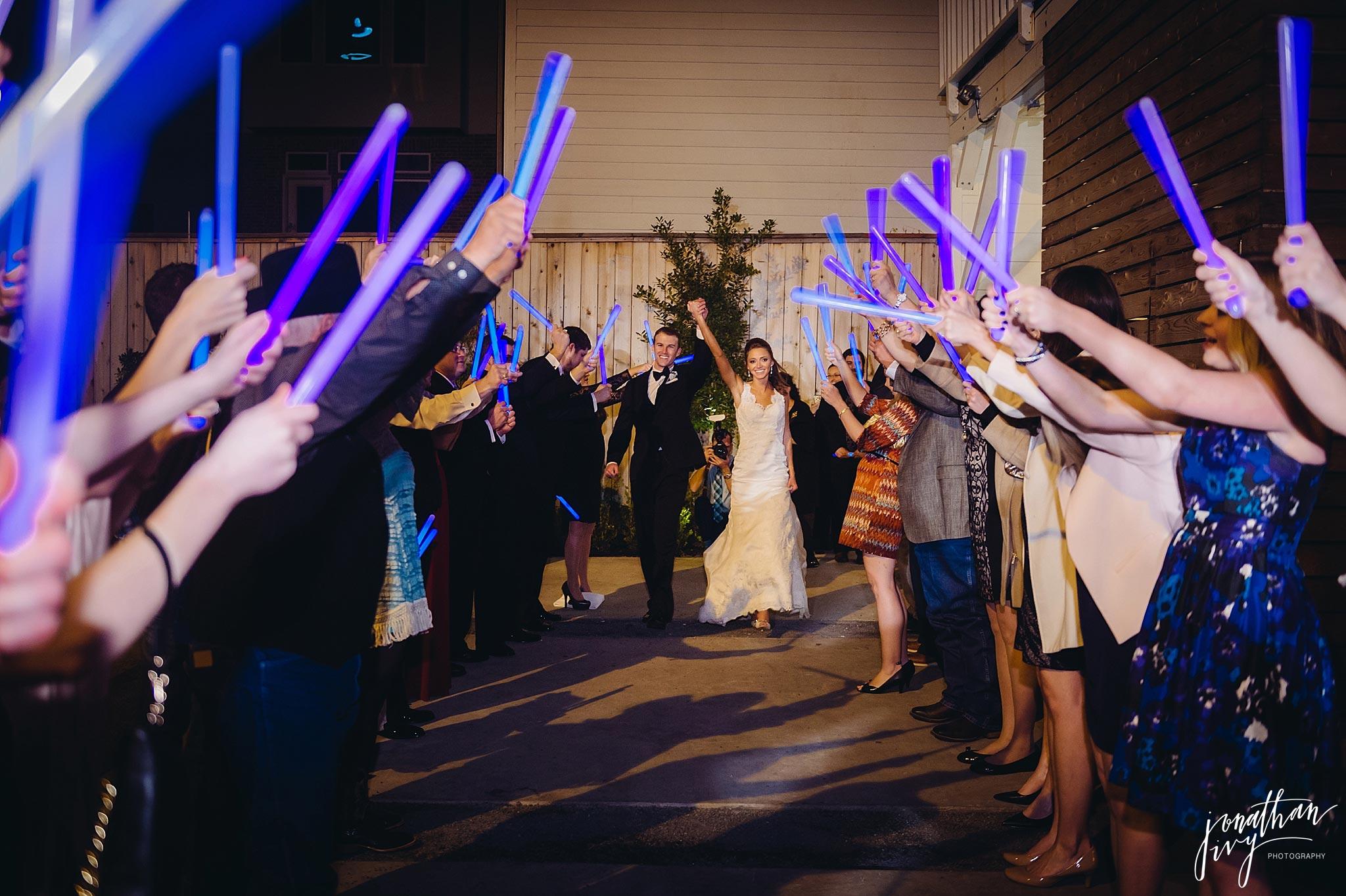 Blue Glow Sticks for Wedding Exit