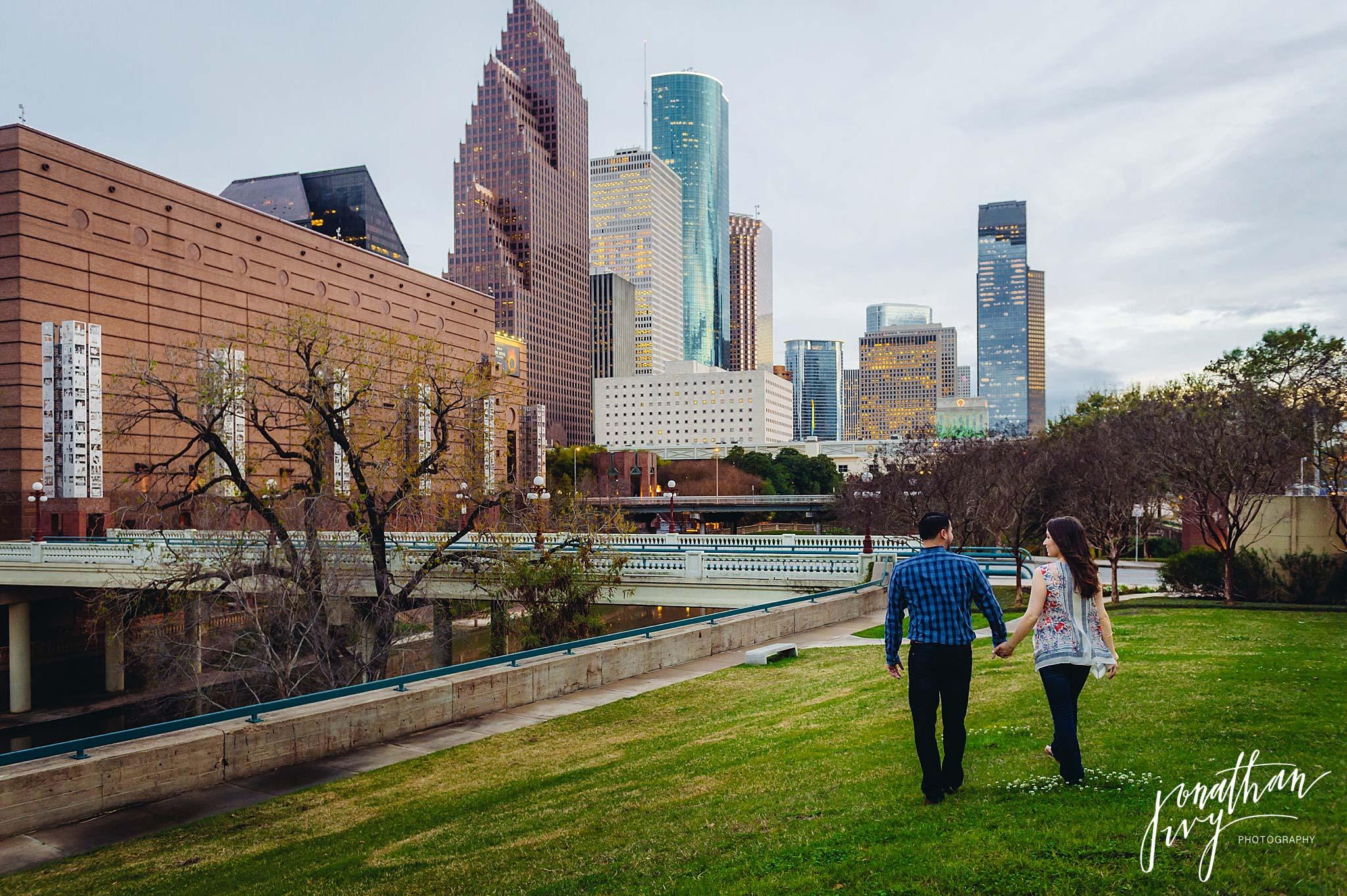 Houston Engagement on Buffalo Bayou