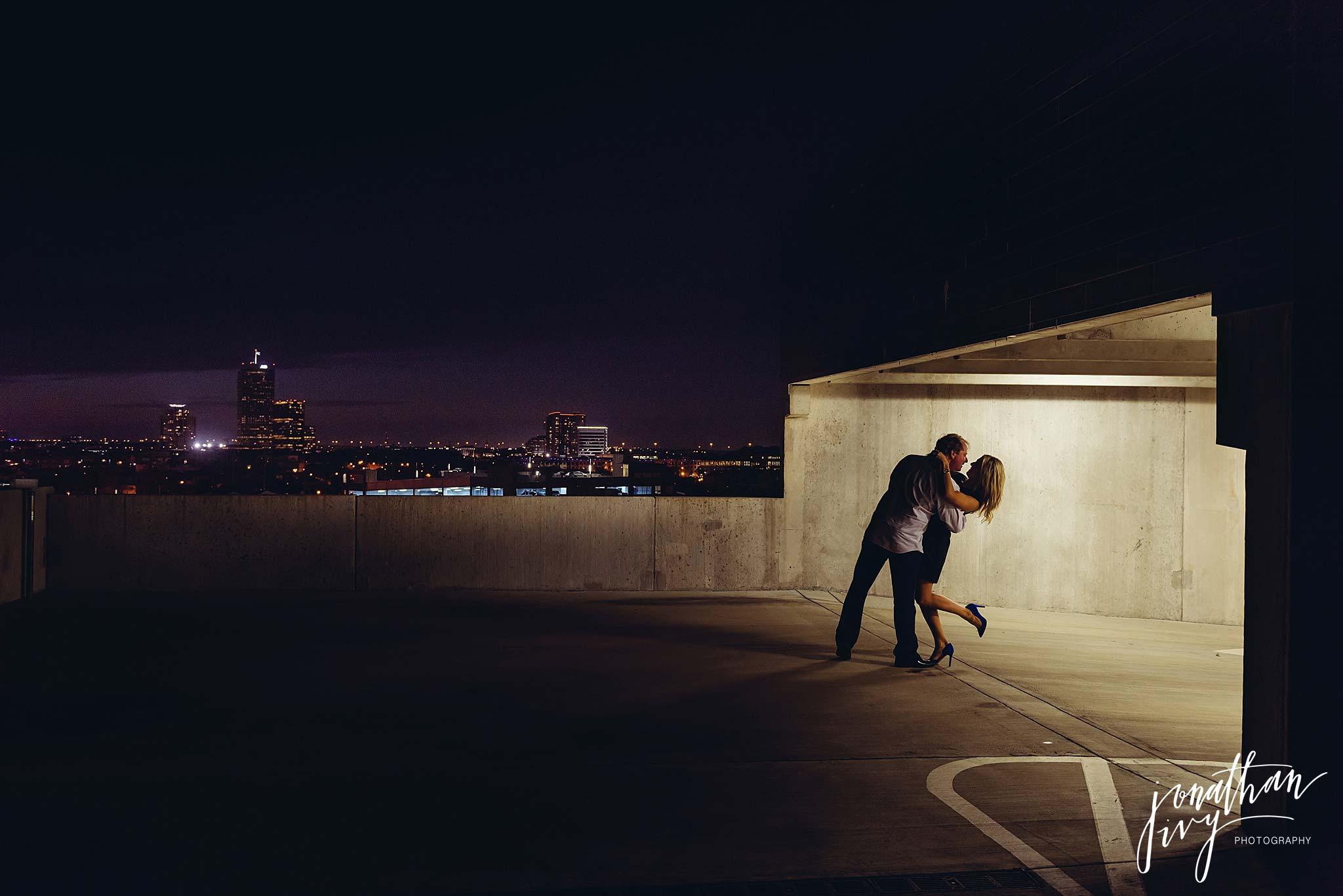 Romantic rooftop engagements