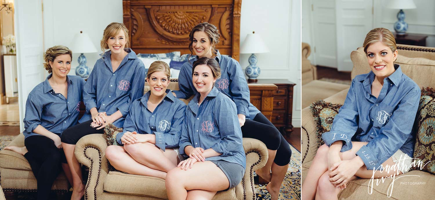 matching monogrammed polo shirts