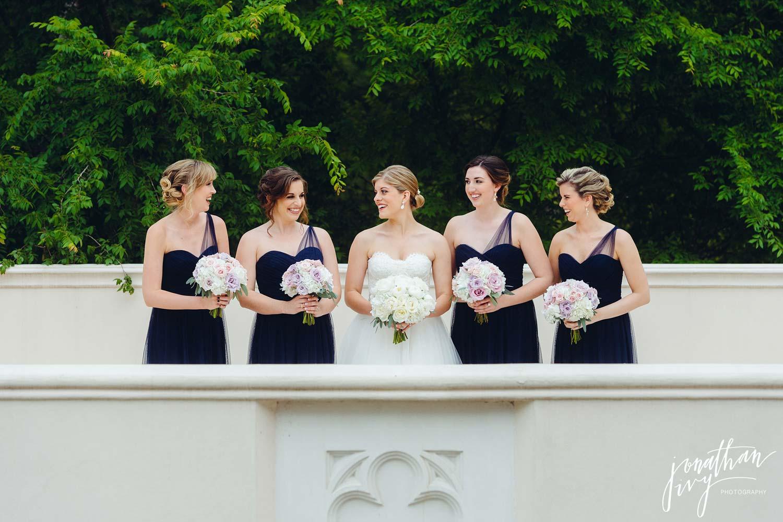 Purple Bridesmaids Dresses and Purple Bridesmaids Bouquets