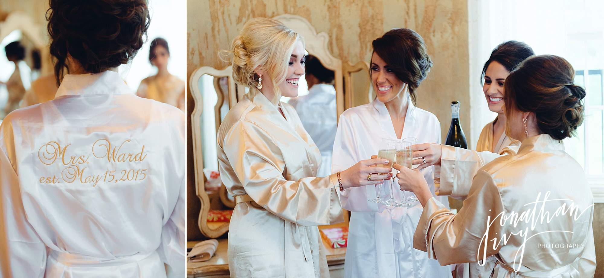 Custom bridesmaid robes