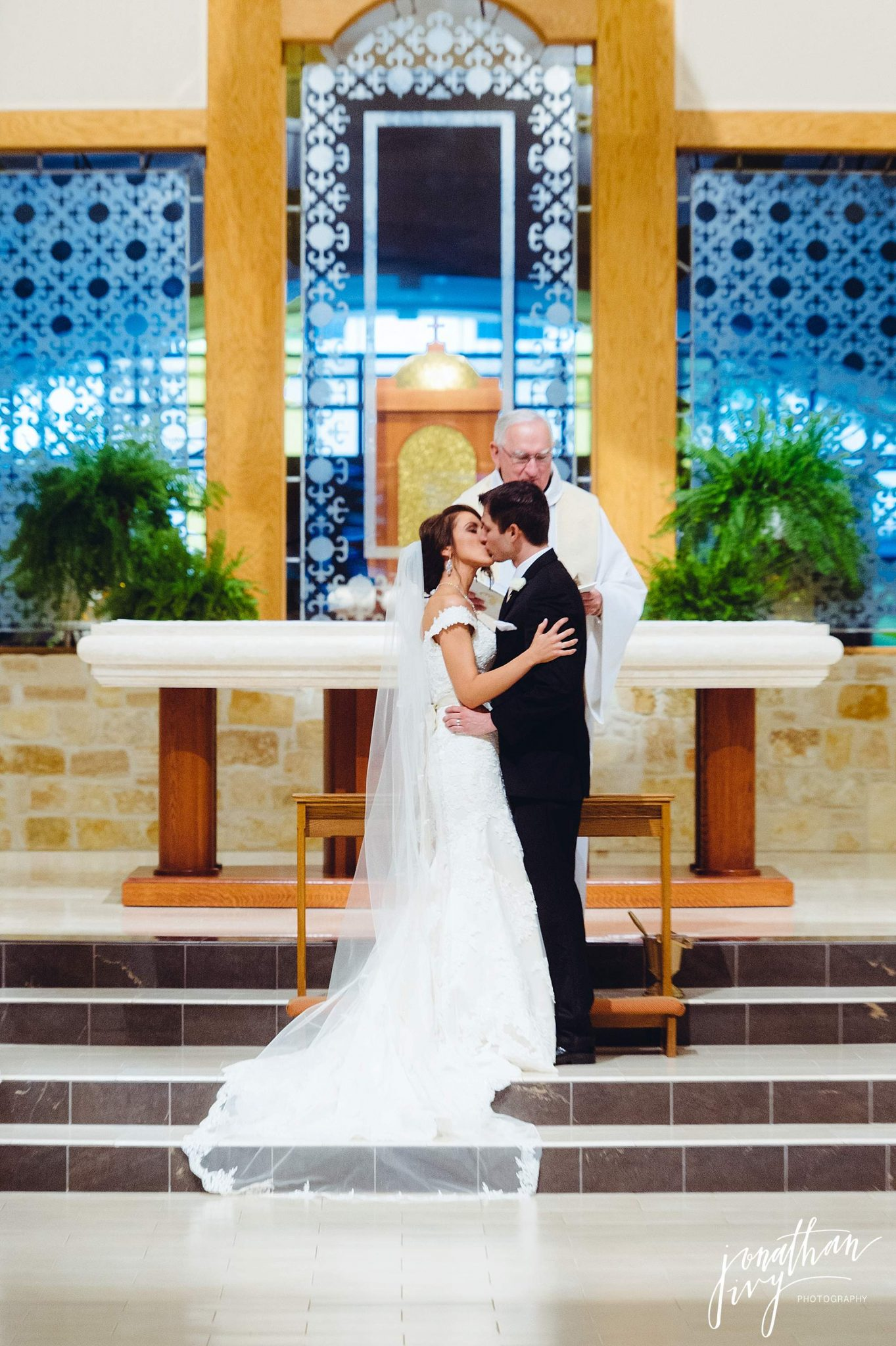 first kiss at Christ the Redeemer Catholic Church