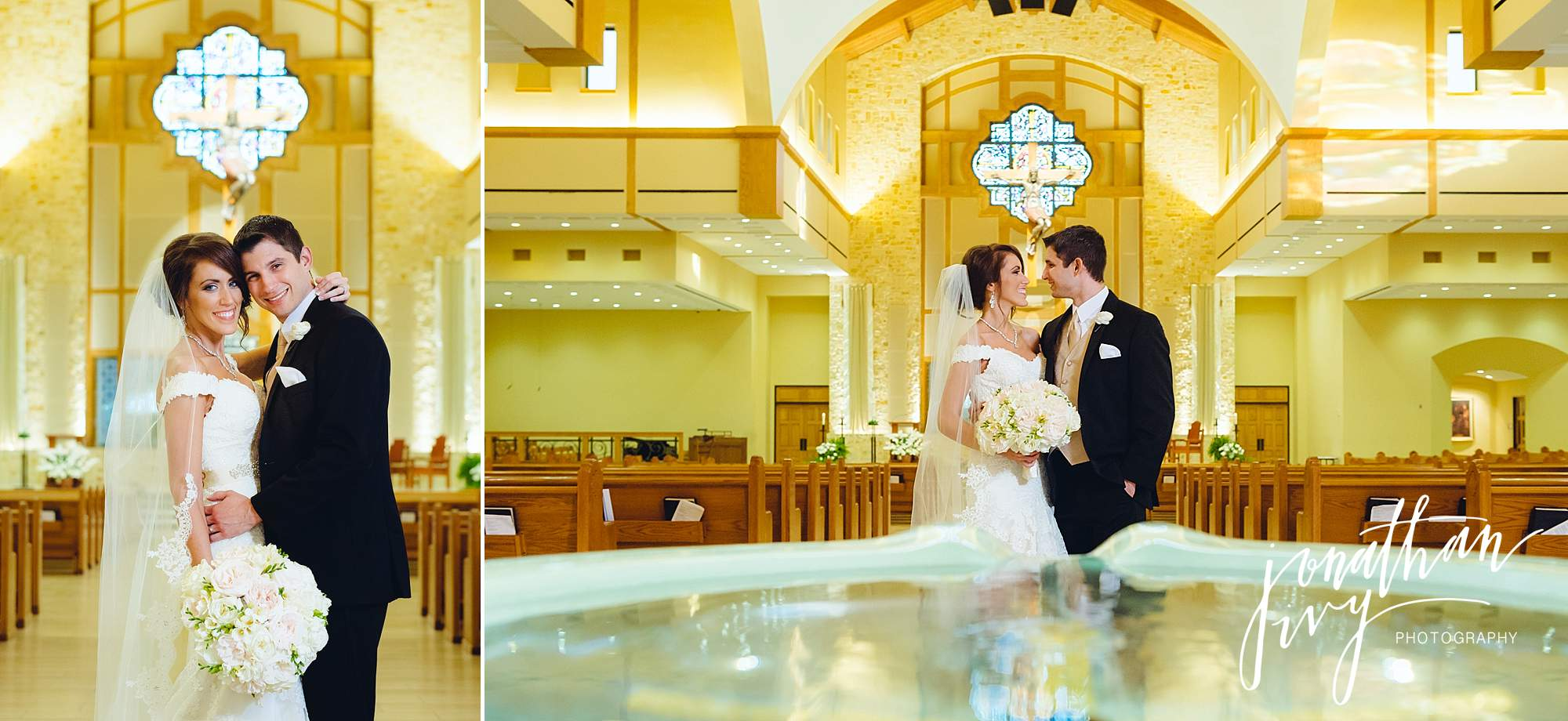 wedding at Christ the Redeemer Catholic Church Houston
