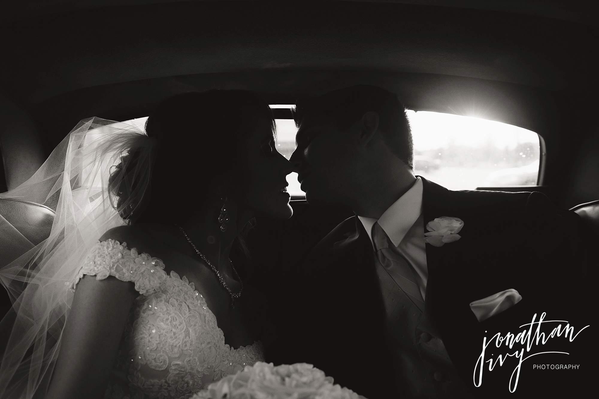 classic car bride groom wedding getaway