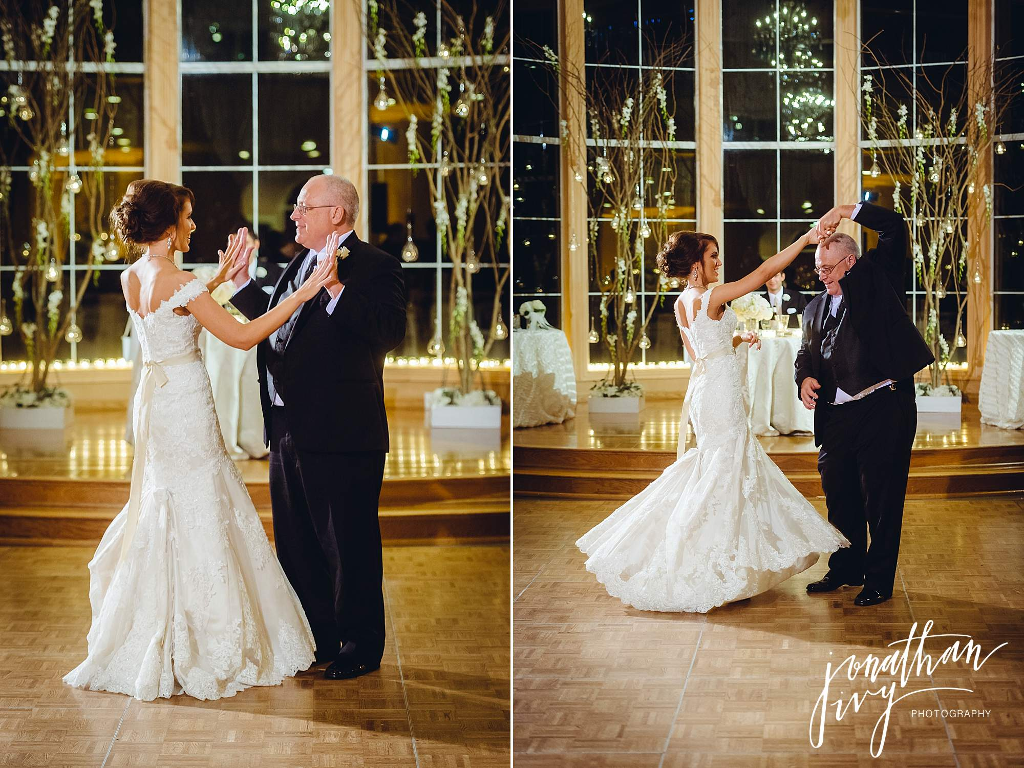 father and daughter dance wedding reception