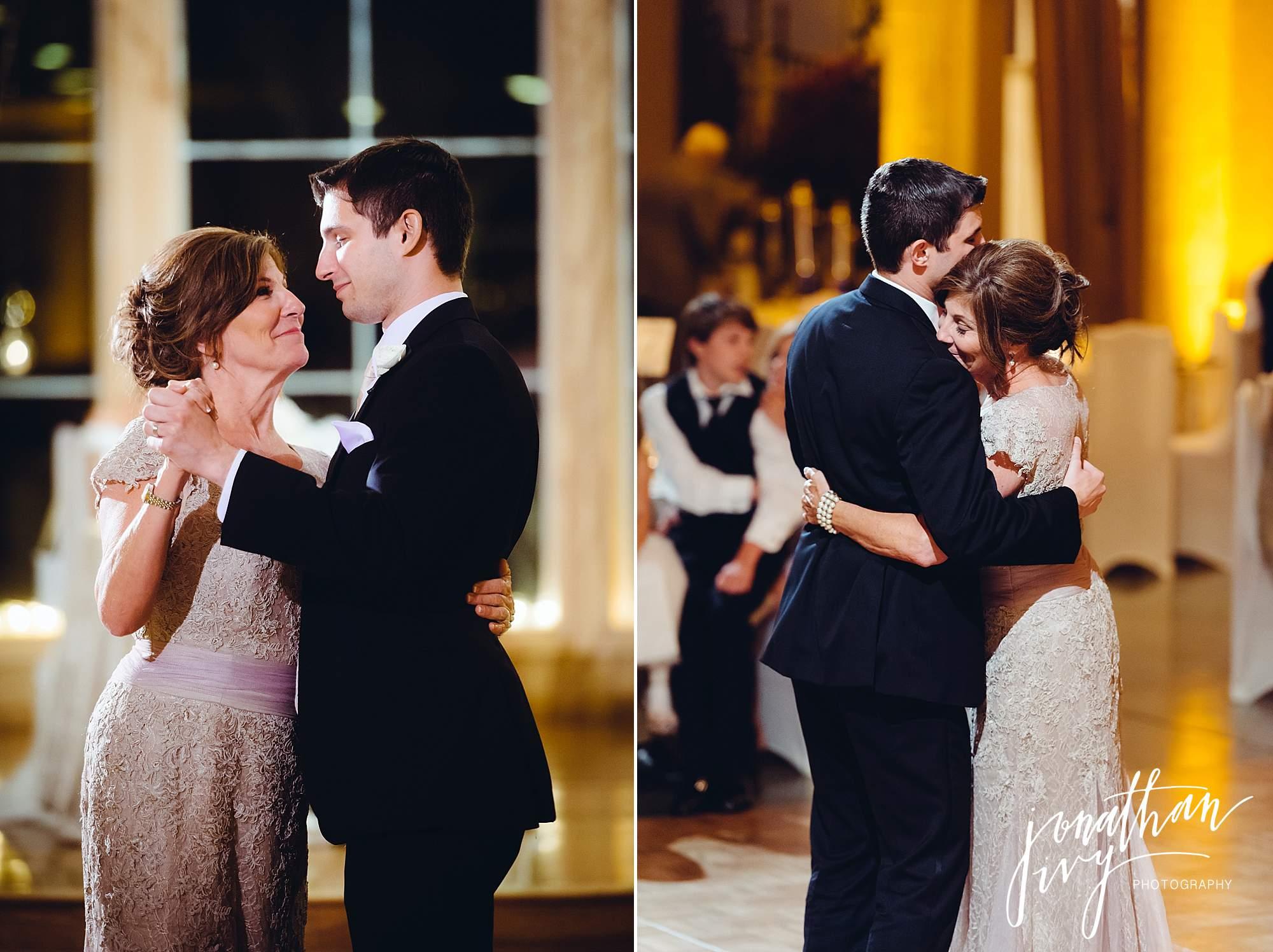 mother son dance wedding reception