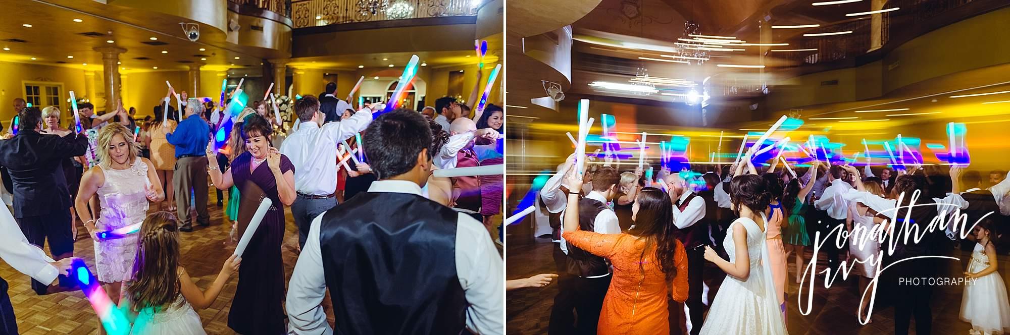 wedding reception dance at chateau polonez