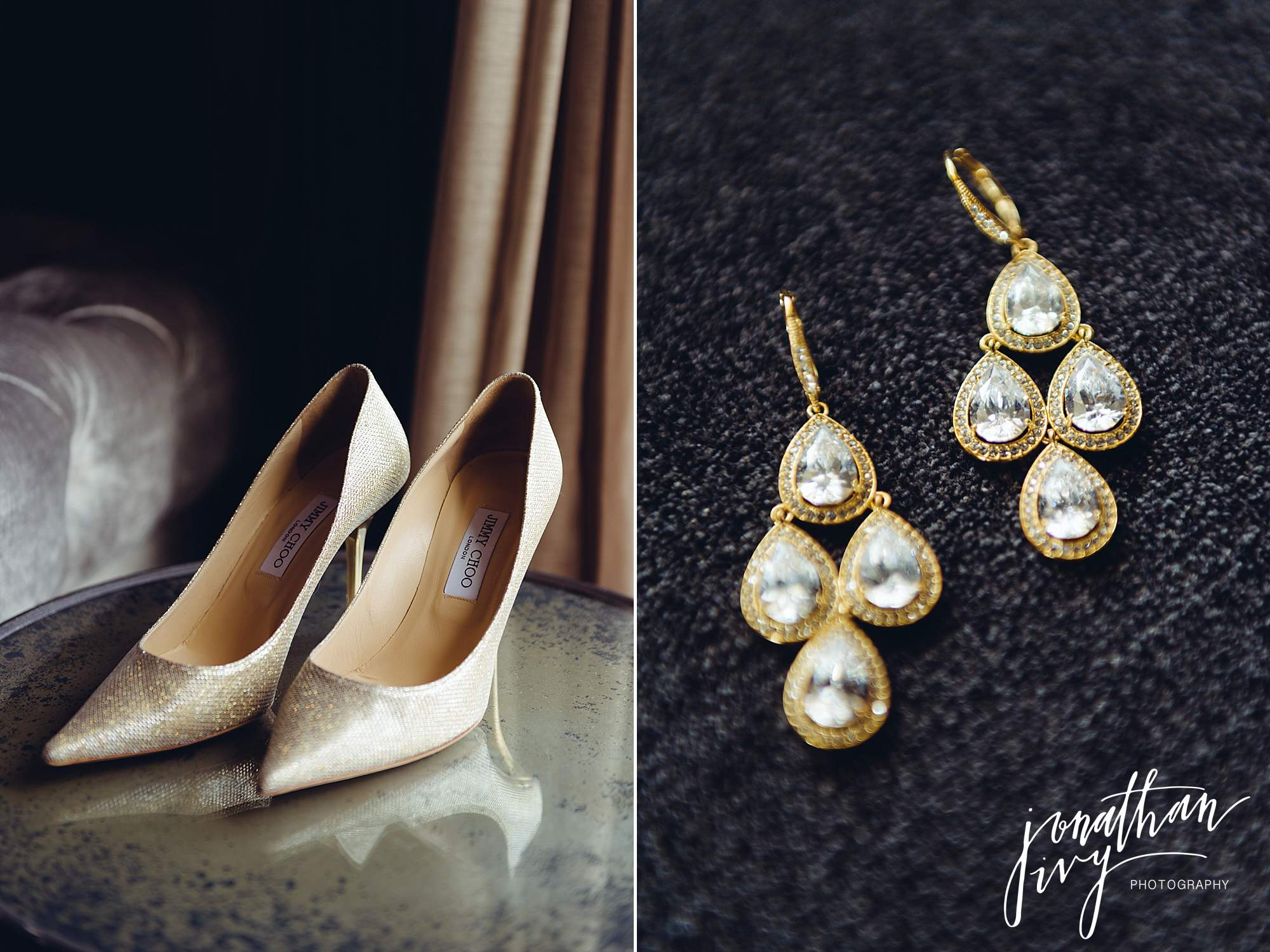 Jimmy Choo Gold Bridal Shoes