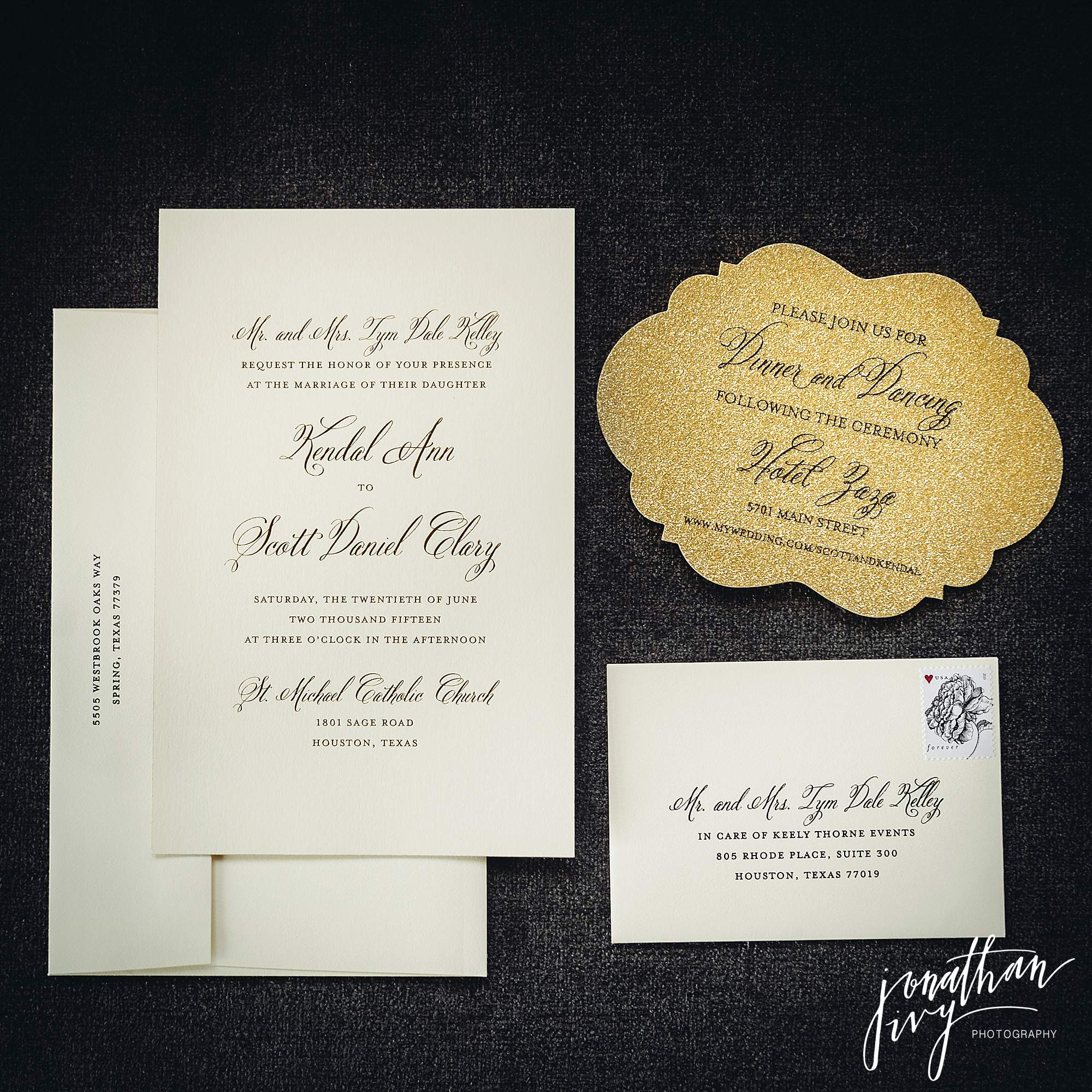 Hotel Zaza Houston Wedding - Clary Wedding - Jonathan Ivy