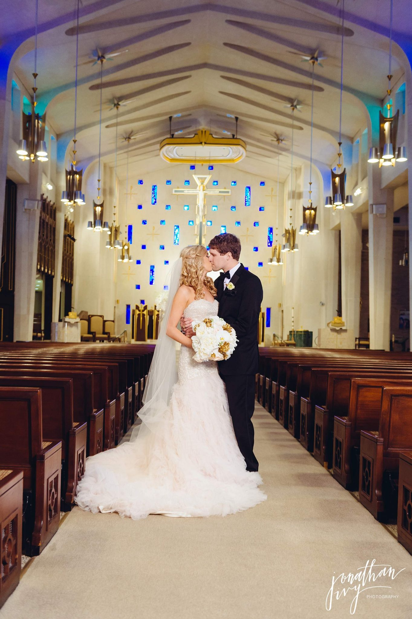 Sain Michaels Catholic Church Bride and Groom Wedding