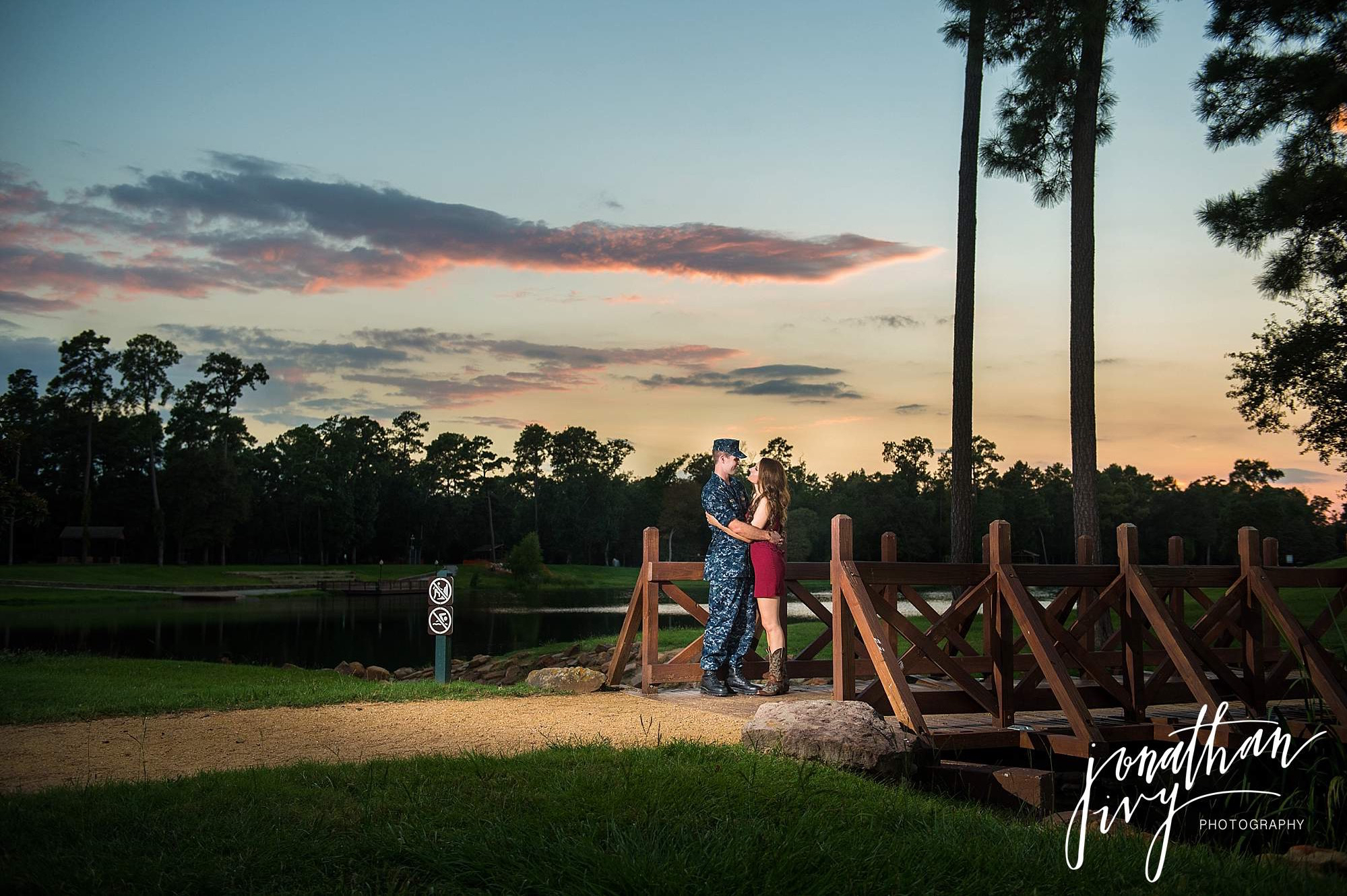 Military Themed engagement the woodlands