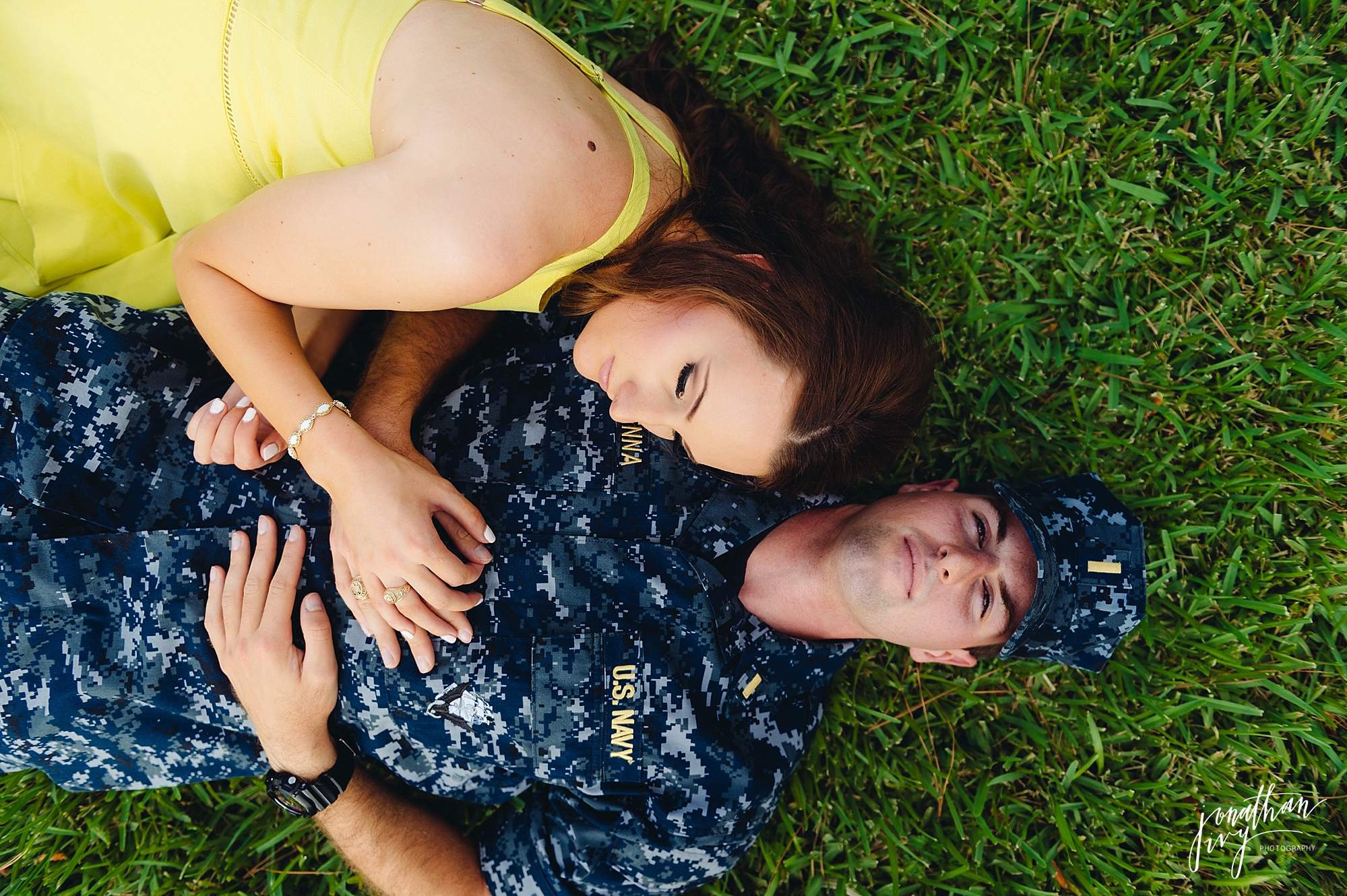 Navy Themed Engagemnt photos