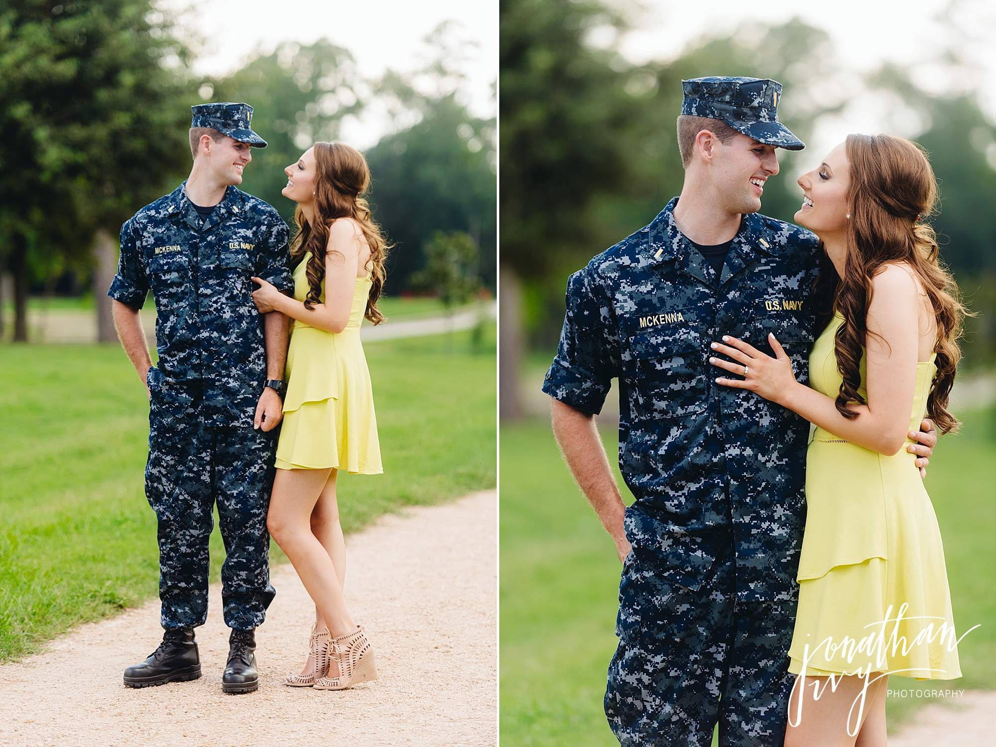 Navy Working Uniform Themed Engagement