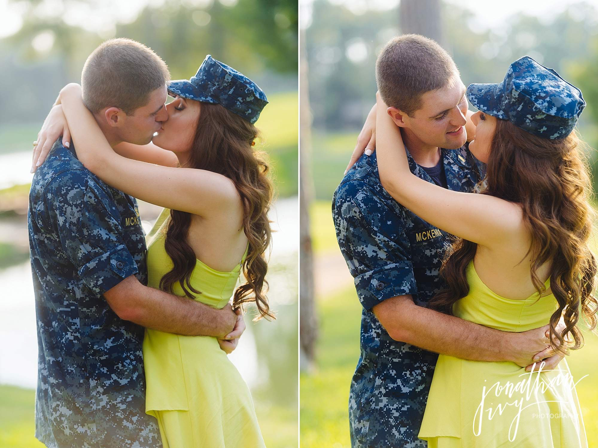Romantic Military themed engagement photos
