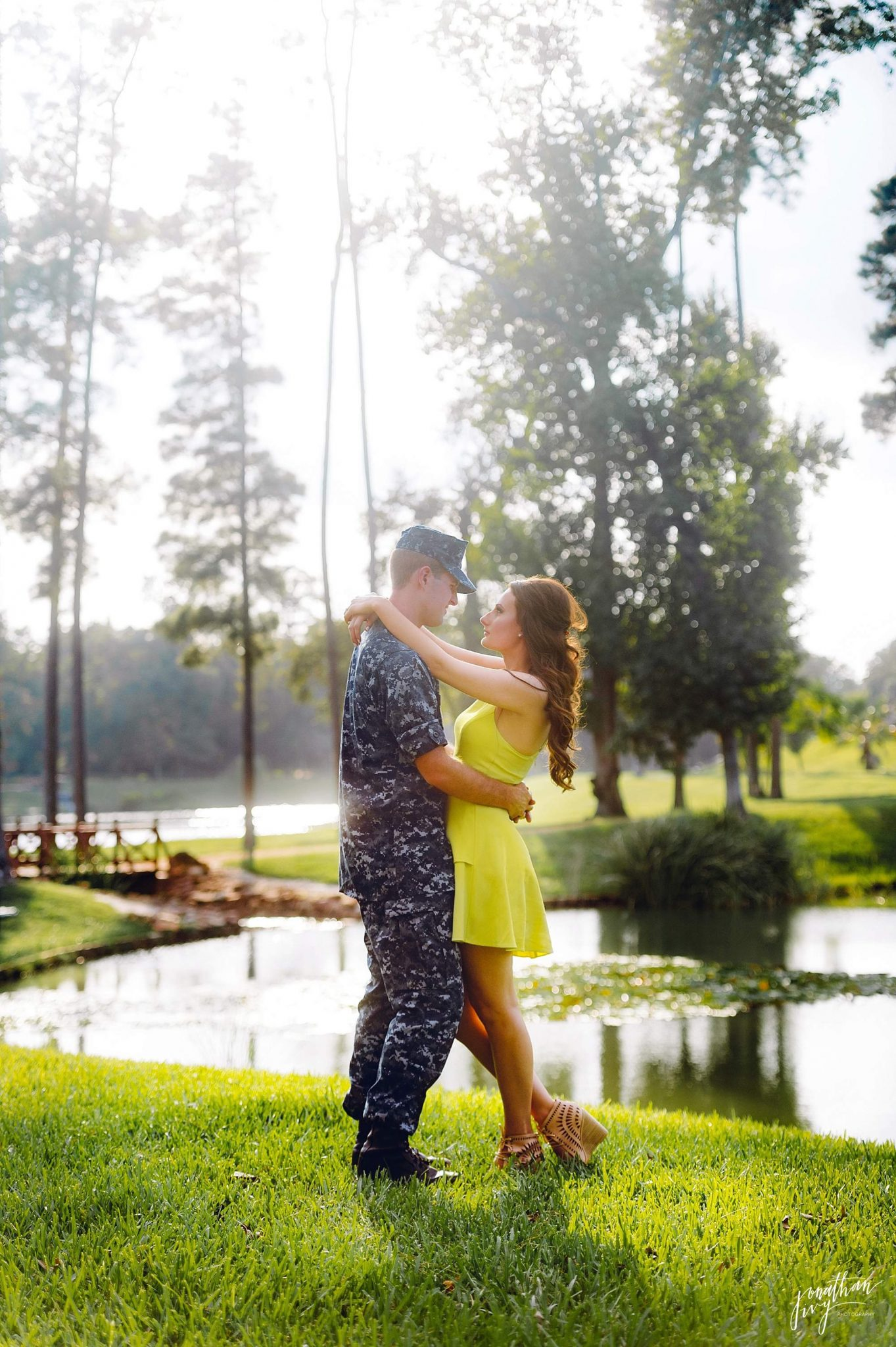 Romantic Navy Themed Engagement Photos
