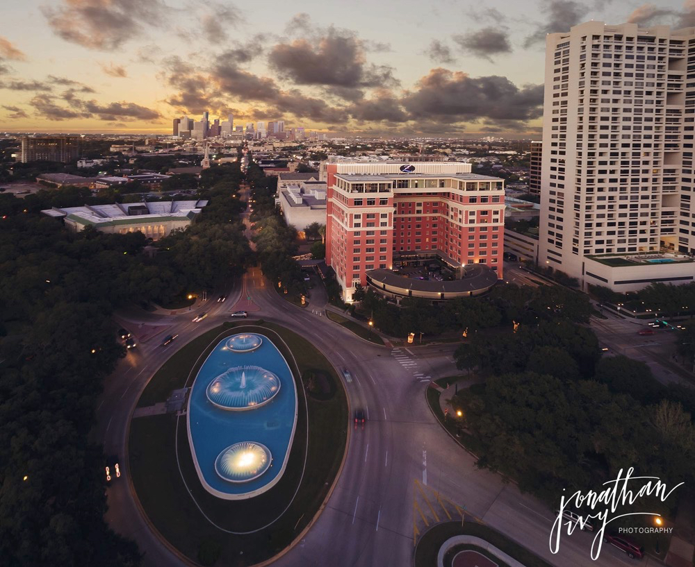 Aerial Wedding Photography Hotel Zaza Houston