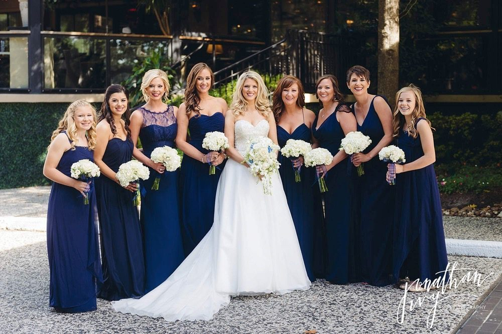 Blue Bridesmaids Dresses mismatch