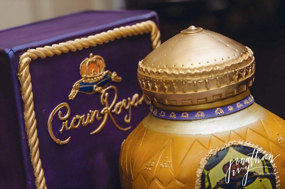 Crown Royal Grooms cake Edible Designs by Jessie