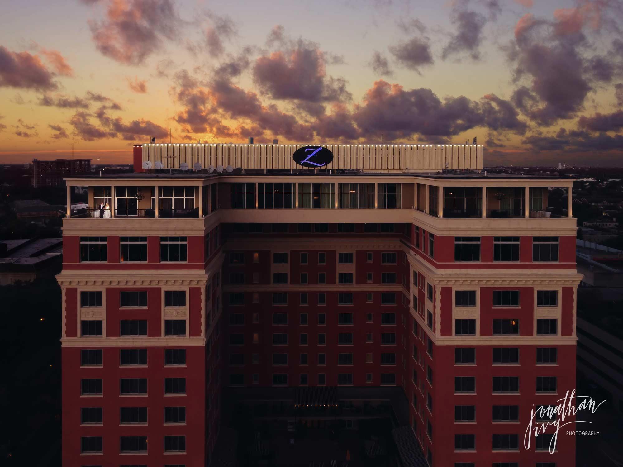Houston Drone Wedding Photography Hotel Zaza Houston