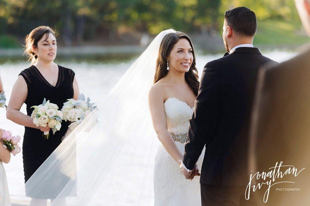 Outdoor wedding in the woodlands texas