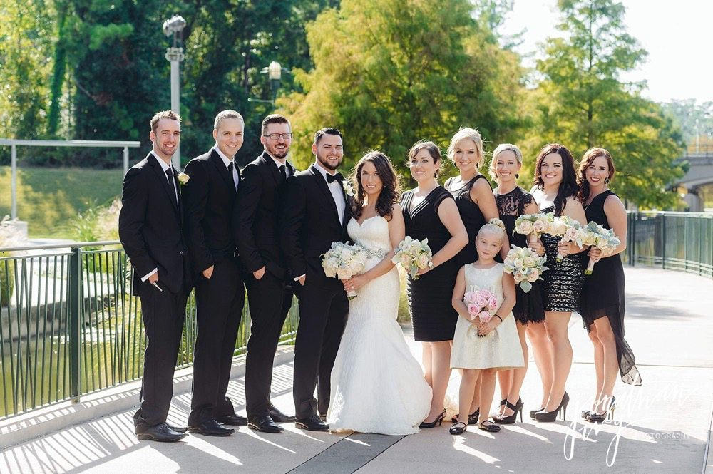The Woodlands Waterway Marriott Hotel Wedding Photos