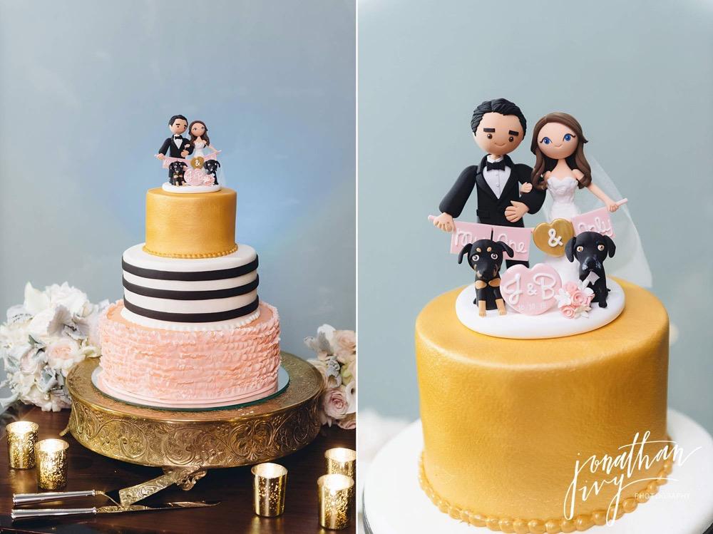 Wedding Cake Topper Dog Themed