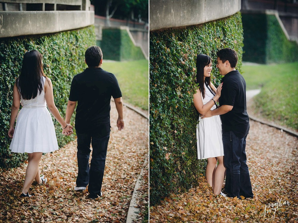 fall engagement photos in Houston