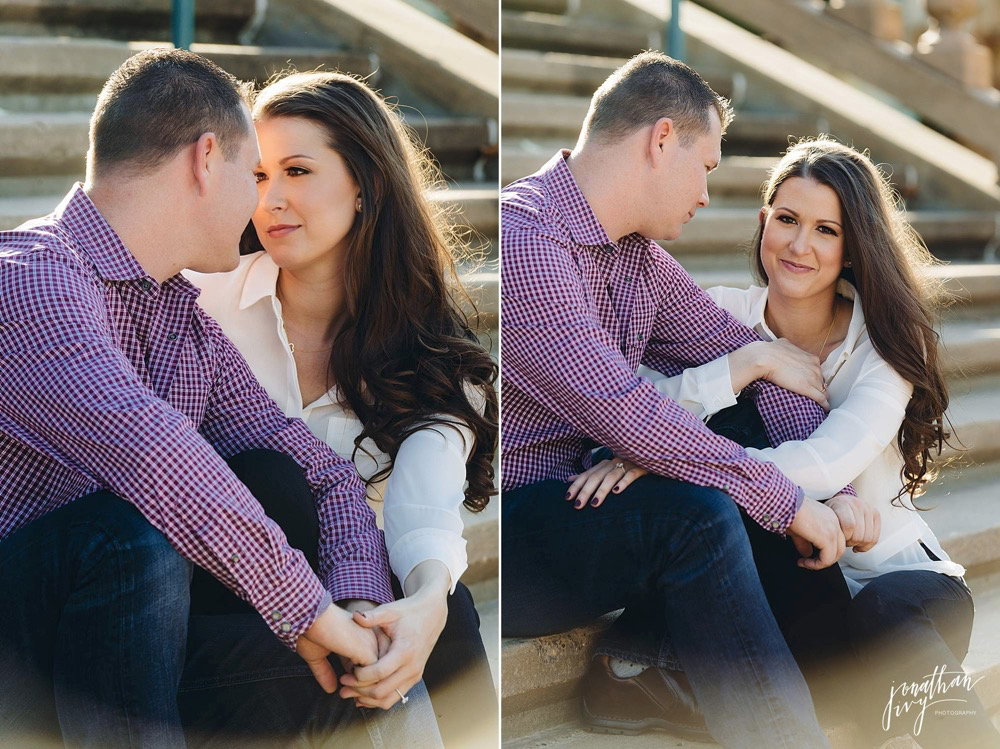 romantic engagement photographer houston