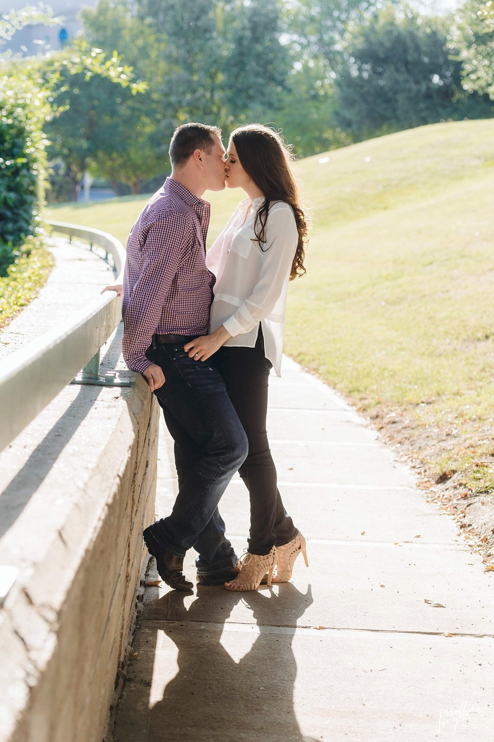 romantic engagement photography houston
