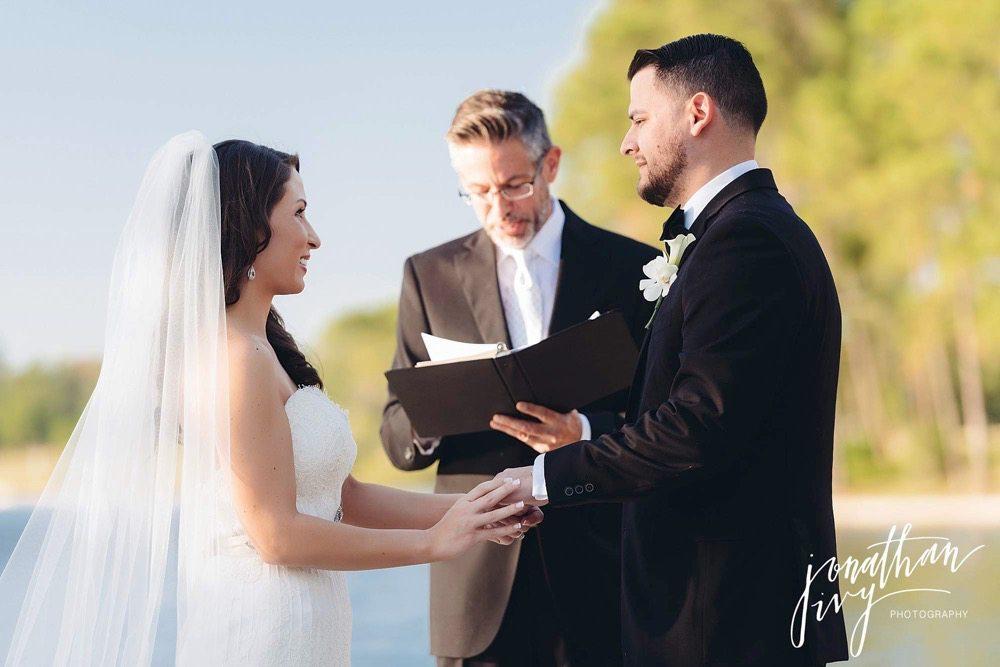 the woodlands outdoor wedding ceremony