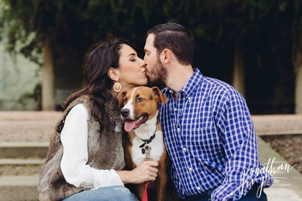 bring your dog for engagement photos