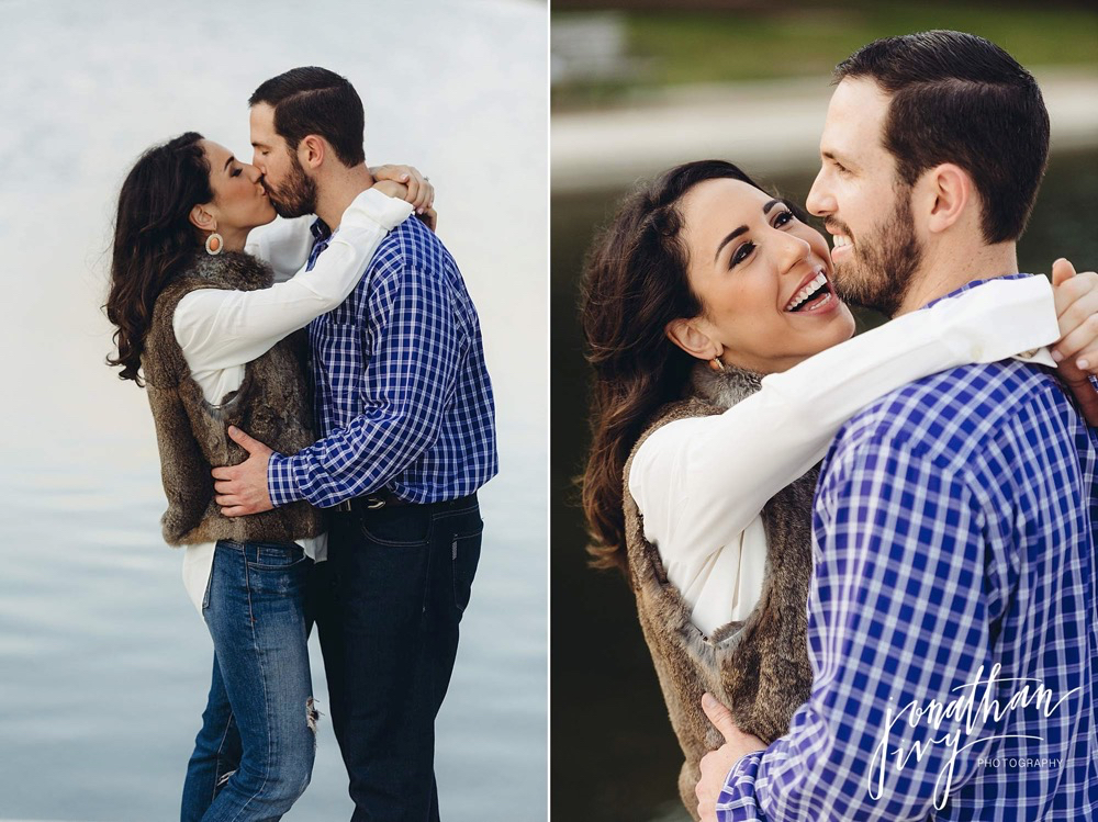 fun engagement photographer in houston